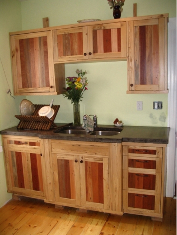 Pallet projects for kitchen pallet ideas recycled - Cabinets made from pallets ...