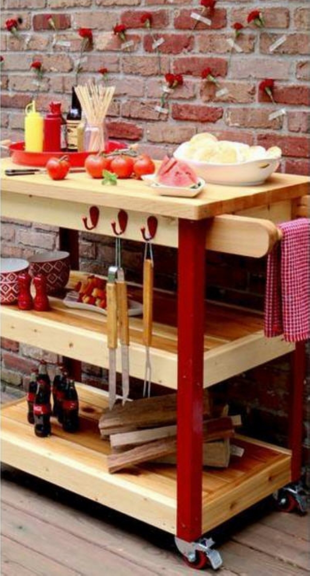 Pallet Bbq Table On Wheels Pallet Ideas