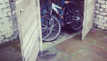 Upcycled Pallet Bike Shed