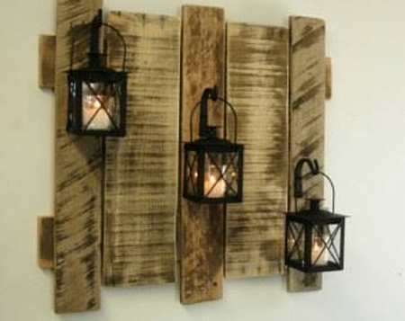 Reclaimed pallet wall decorations pallet ideas recycled for Decorating ideas for wall cutouts