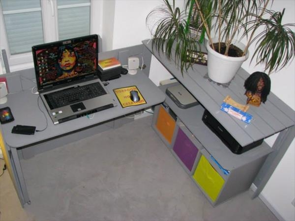 Pallet Foldable Sectional Computer Desk