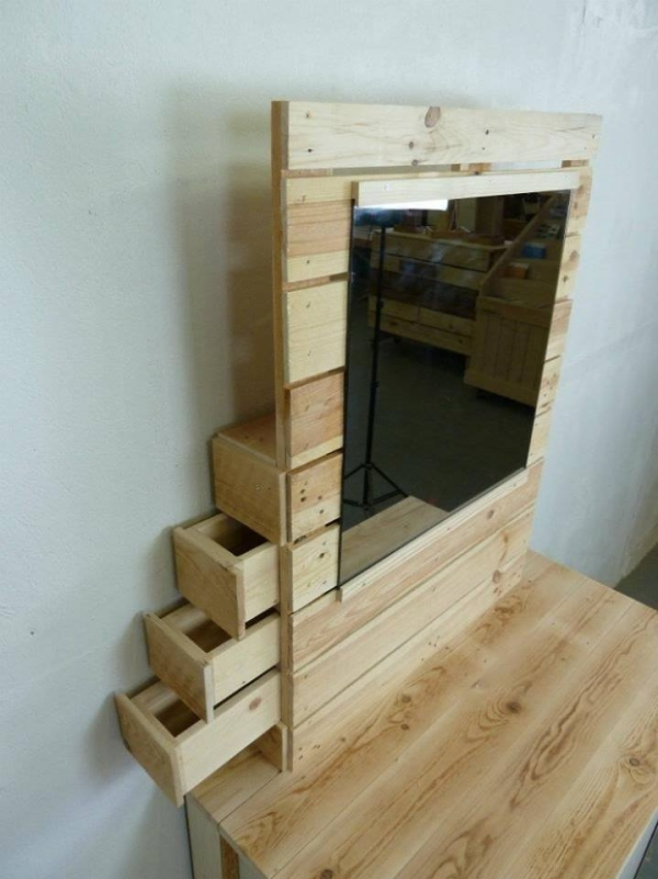 Pallet Made Vanity Table Ideas Recycled