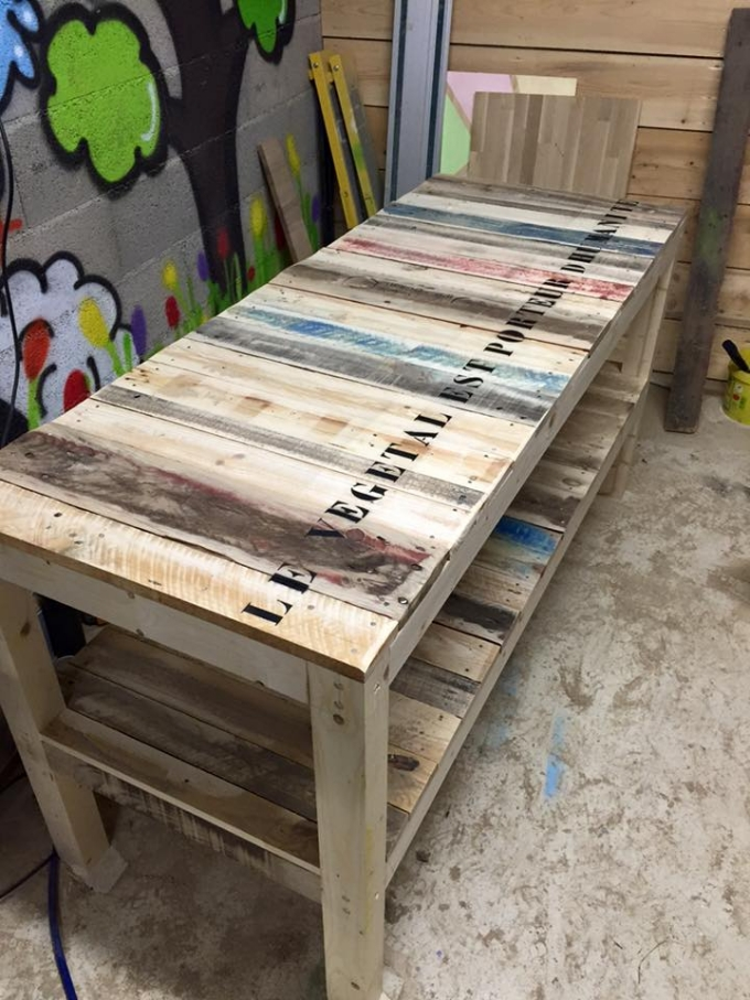 Shipping Pallet Upcycled Bench Pallet Ideas