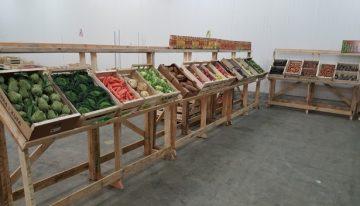 Pallet Vegetables Display Stands