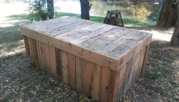 Wooden Pallets Outdoor Big Table