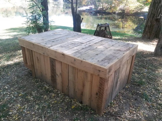 Wooden Pallets Outdoor Big Table Pallet Ideas Recycled