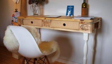 Reclaimed Pallet Wood Desk