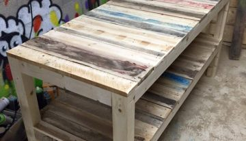 Shipping Pallet Upcycled Bench