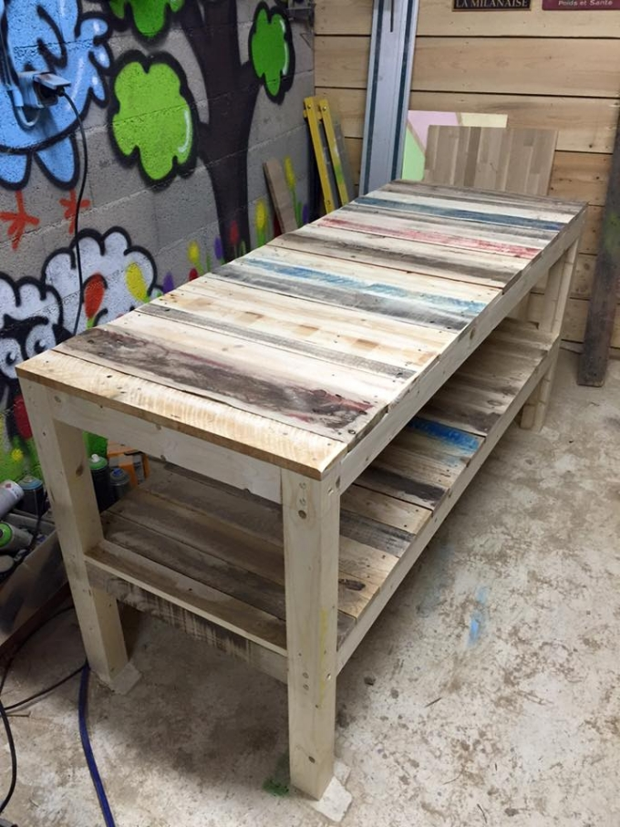 Shipping Pallet Upcycled Bench | Pallet Ideas