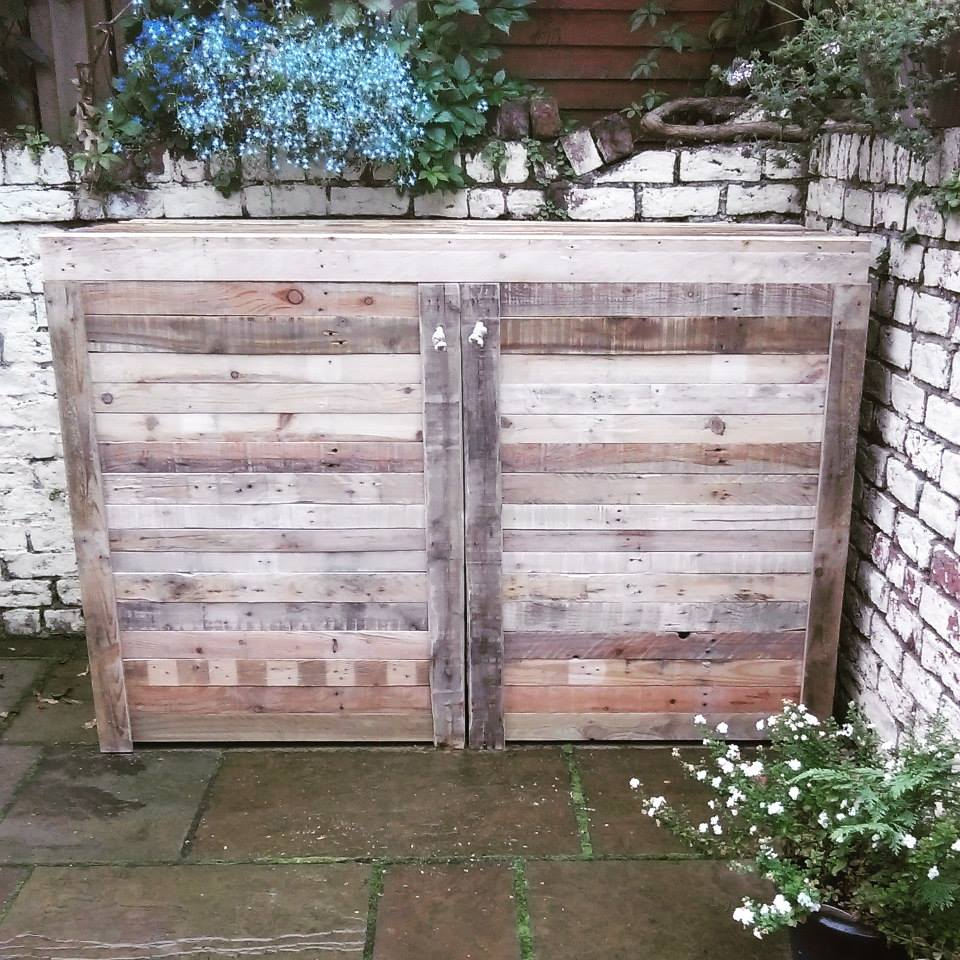 Upcycled Pallet Bike Shed  Pallet Ideas