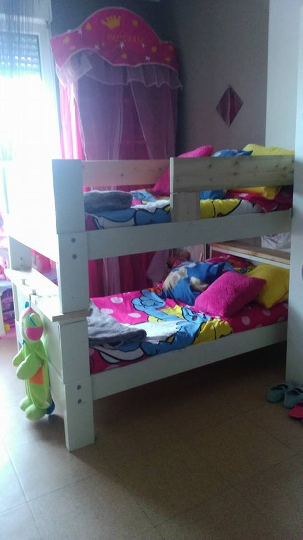 Pallets Wooden Kids Bunk Bed Pallet Ideas