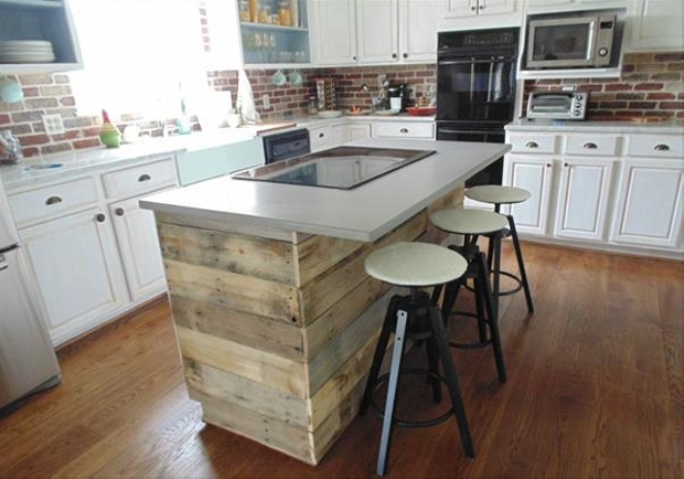 Use Accessories To Link Your Island To The Rest Of Your: Pallet Projects For Kitchen