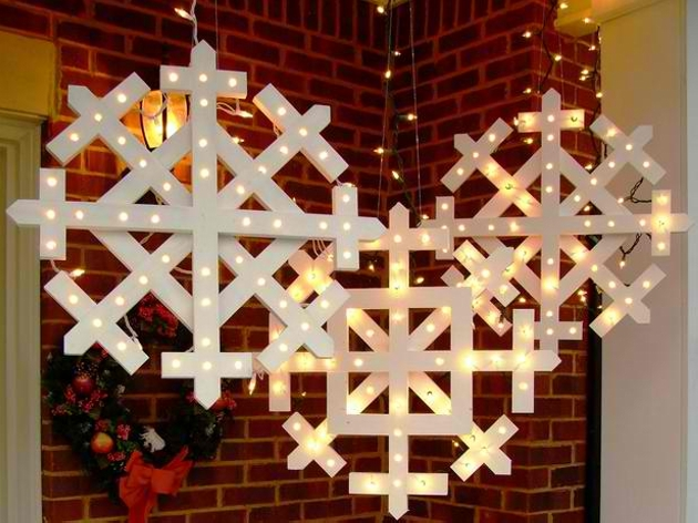 outdoor Christmas pallet decorations ideas