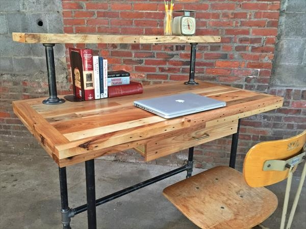 Pallet Projects for Computer Desk Tables | Pallet Ideas