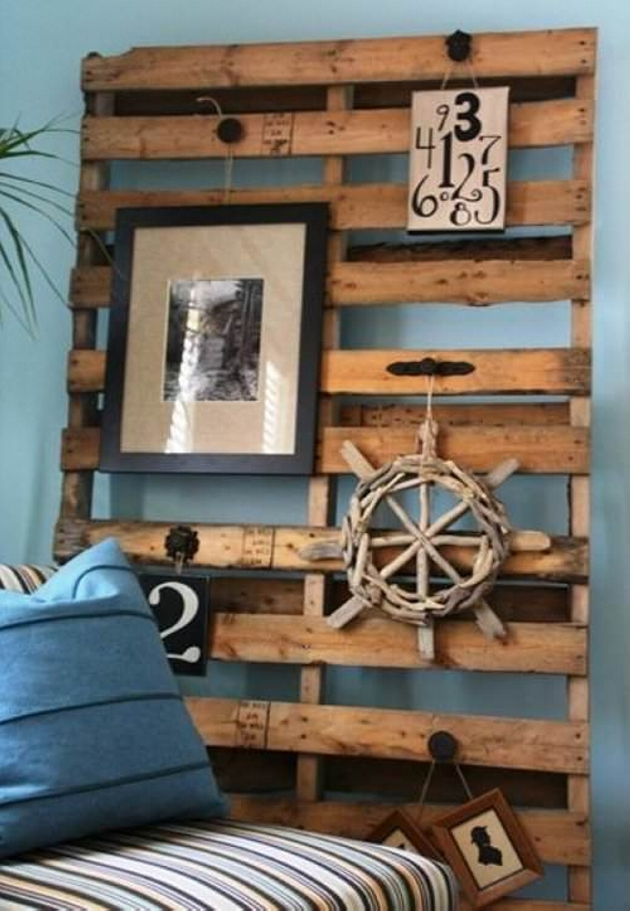 50 pallet ideas for home decor pallet ideas recycled upcycled pallets furniture projects. Black Bedroom Furniture Sets. Home Design Ideas