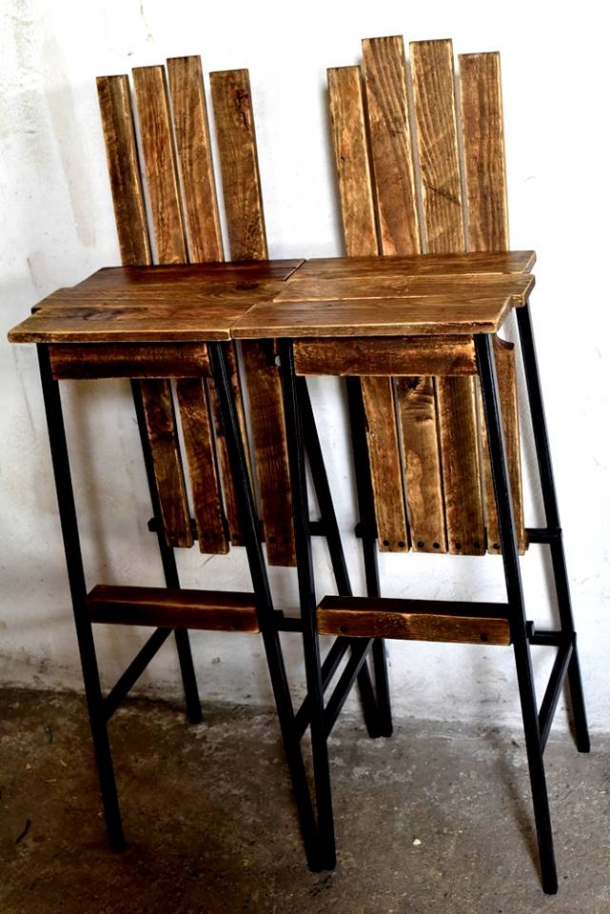 Repurposed Pallet Bar Chairs Pallet Ideas