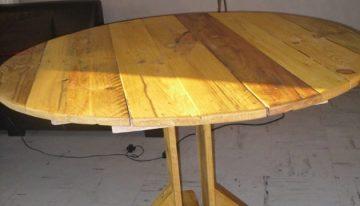 Pallet Kitchen Round Table