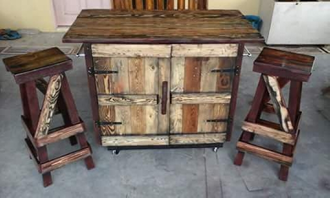 Kitchen Island Rustic pallet rustic kitchen island | pallet ideas: recycled / upcycled