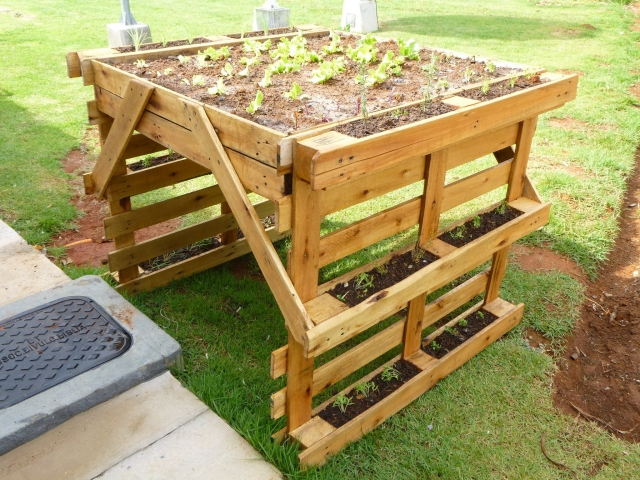 Wooden Pallet Herb Planter