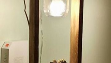 Pallet Wood Upcycled Lamp
