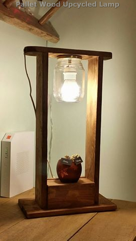 Pallet Wood Upcycled Lamp Ideas Recycled