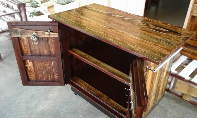 Pallet rustic kitchen island pallet ideas recycled for Make a kitchen island out of pallets