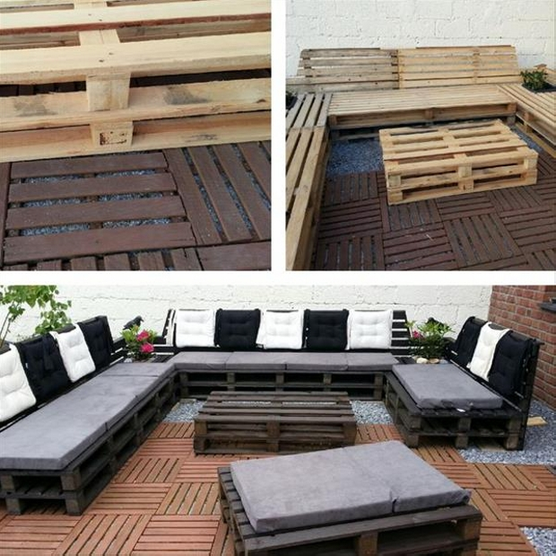 Ordinaire DIY Pallet Outdoor Sectional Sofa