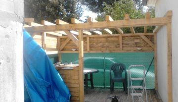 DIY Pergola with Wood Pallet