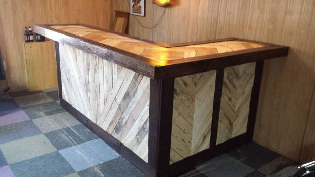 Recycled Wood Pallet Bar Ideas Ideas