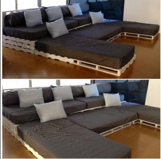 Pallet Movie Theater Sofa