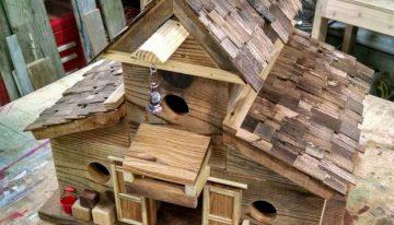Wooden Pallet Bird House