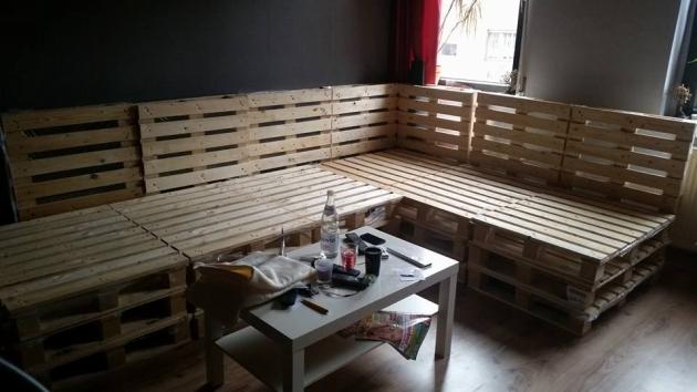 Diy Recycled Pallet Made Corner Sofa Pallet Ideas