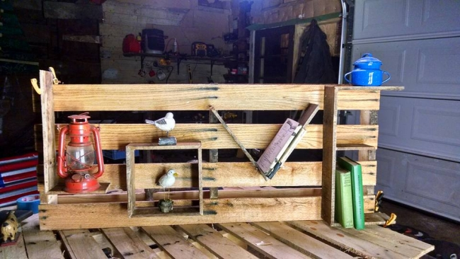 how to make shelves out of wooden pallets