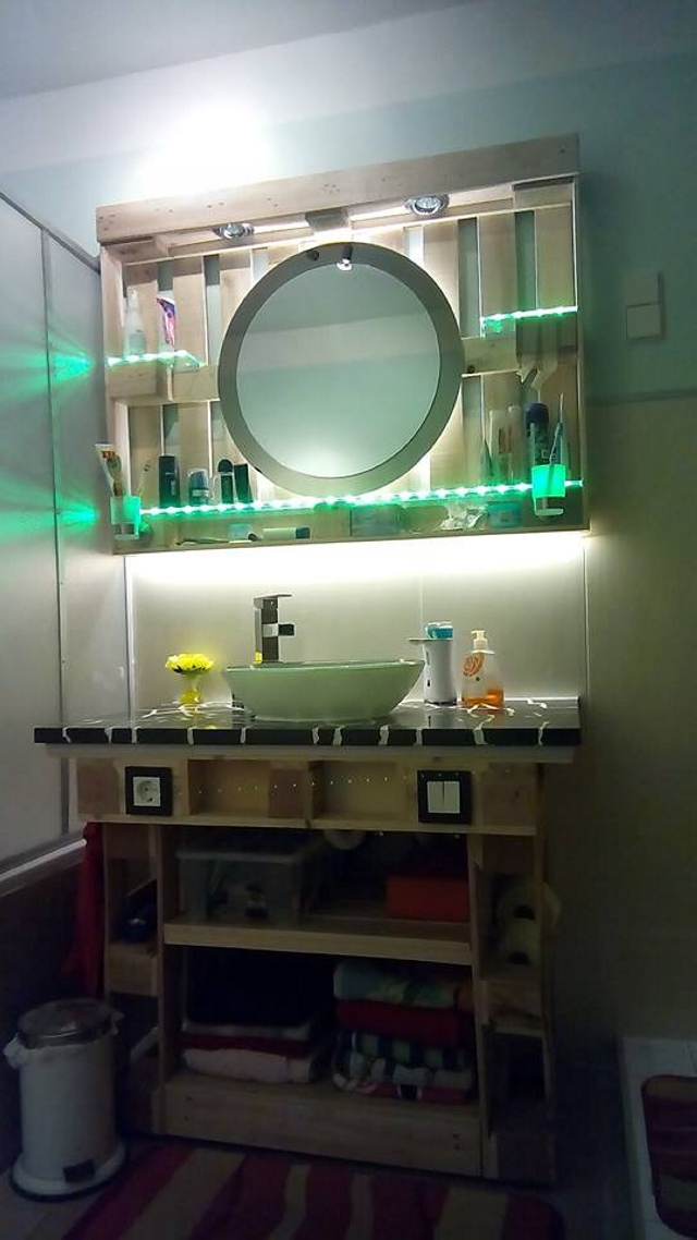 Bathroom Decor With Wood Pallets Pallet Ideas