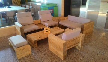 Wooden Pallet Couch Set
