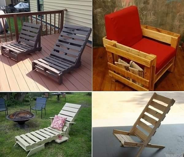 Things to make out of pallets pallet ideas recycled Chairs made out of wooden pallets