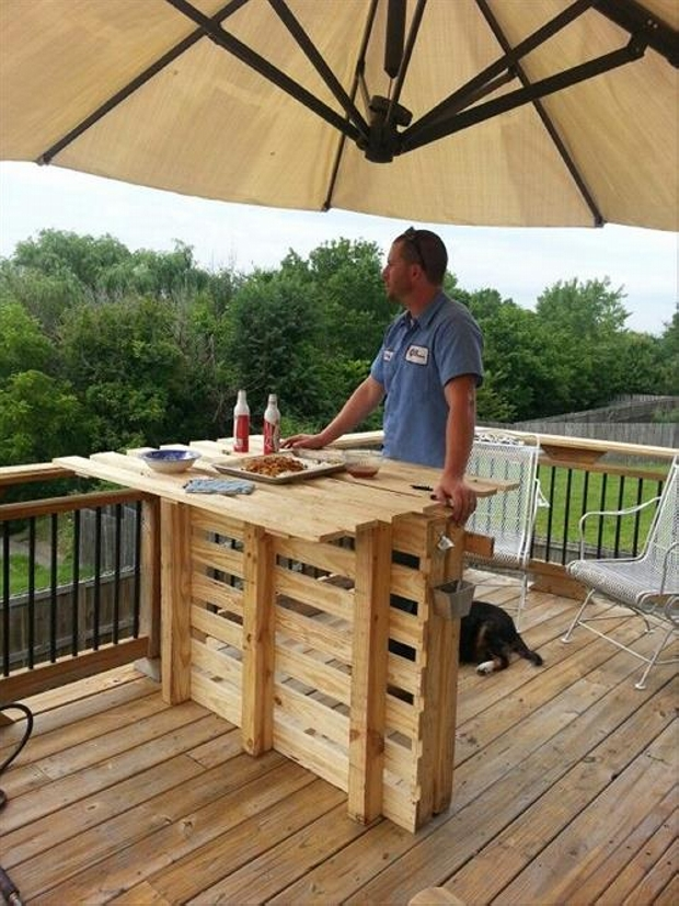 Recycled Wood Pallet Bar Ideas Pallet Ideas Recycled