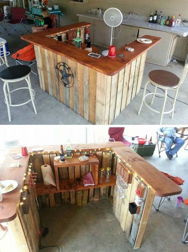 pallets wood made bar