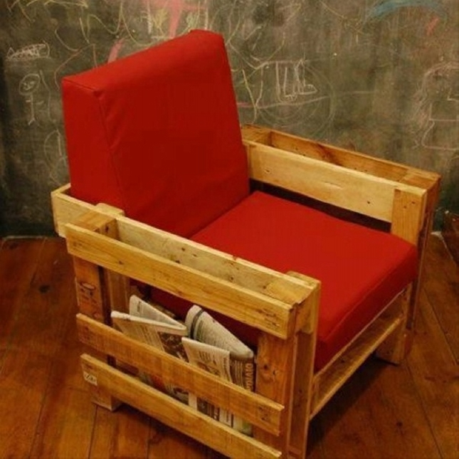 Pallet Armchair With Storage