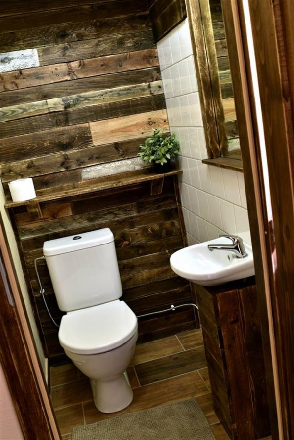 Using Old Pallets for Bathroom   Pallet Ideas