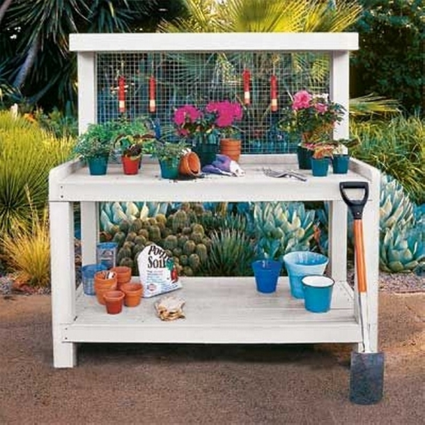 Wood pallet potting benches pallet ideas recycled upcycled pallets furniture projects Potting bench ideas