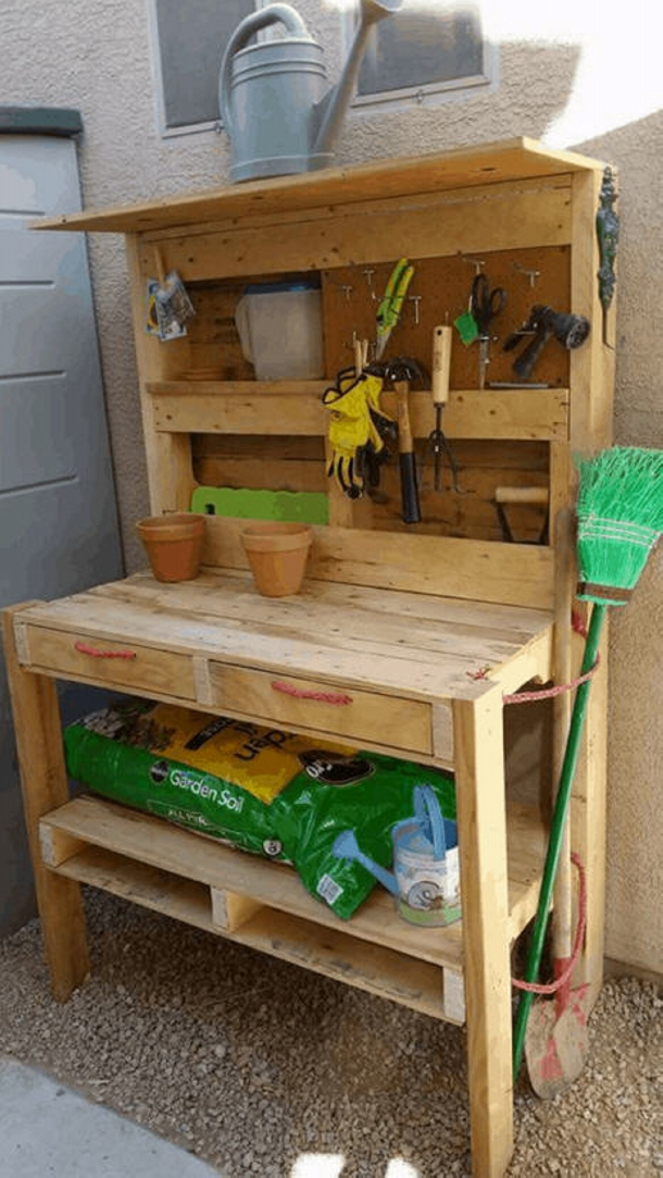 Wood Pallet Potting Benches Ideas Recycled