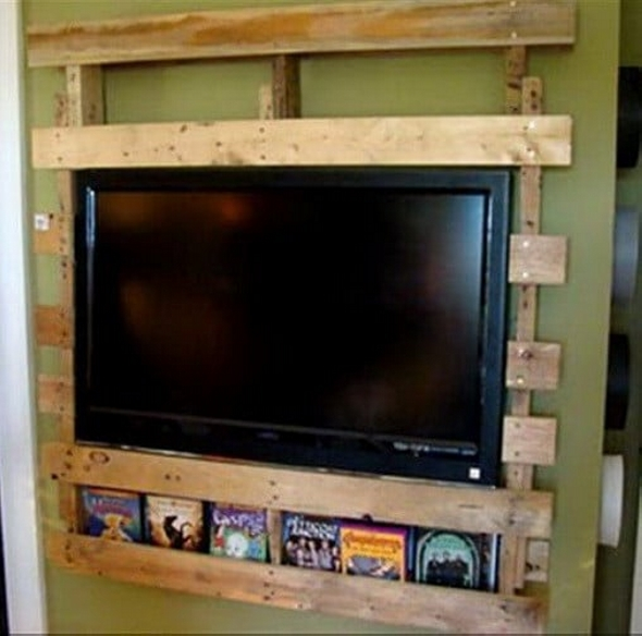 Ideas For Pallet Wall Tv Holder Pallet Ideas