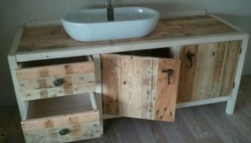 Using Old Pallets for Bathroom