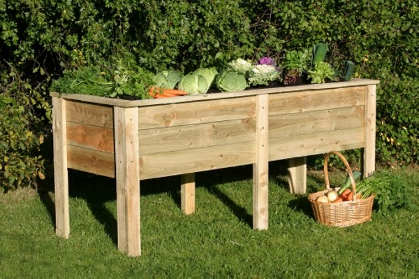 Pallet Wood Raised Garden Bed