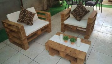 Lounge Furniture with Pallet Wood
