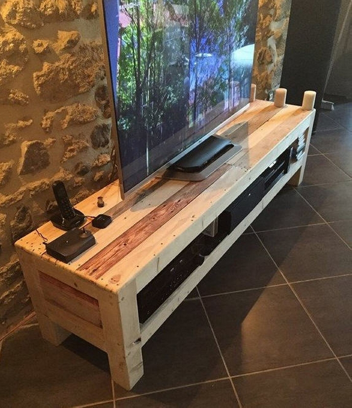 Recycled Pallet Wood TV Stand Pallet Ideas Recycled