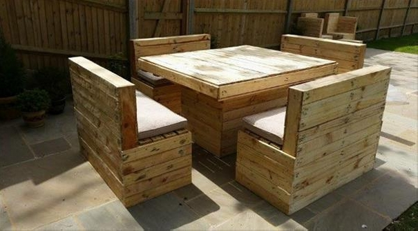 Garden Furniture From Wooden Pallets outdoor furniture pallet projects | pallet ideas: recycled