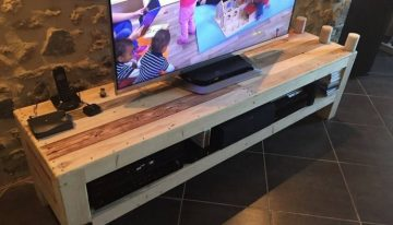 Recycled Pallet Wood TV Stand