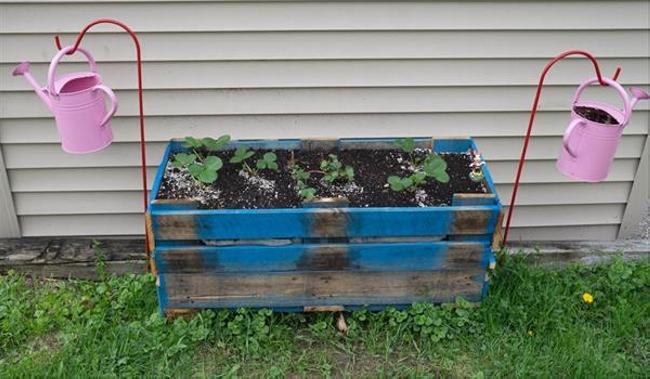 Pallet Garden Decor Deck